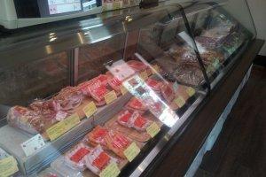 Half butcher's shop...