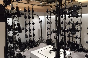 The bank of camera used to capture images for 3-D projects