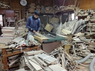 Once the wood is try, it will be cut into planks