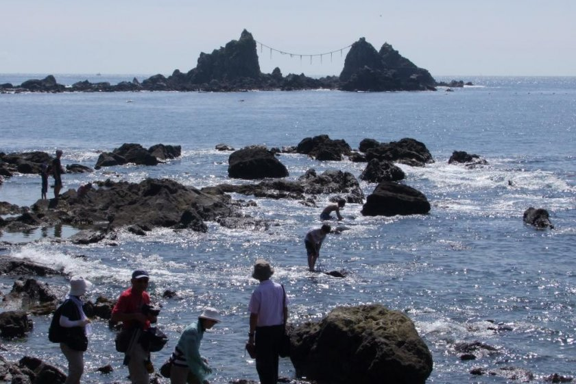 Mitsu-ishi is located on a beautiful cape