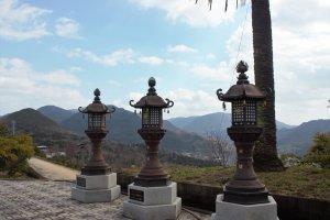 Lanterns on the temple ground