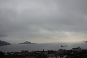Your view looking straight out at the Seto Inland Sea