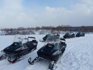 Snowmobiling with White Isles Snowmobiles