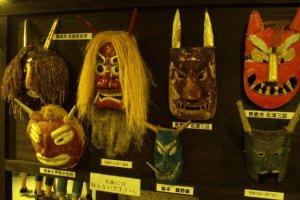 Traditional Namahage masks.