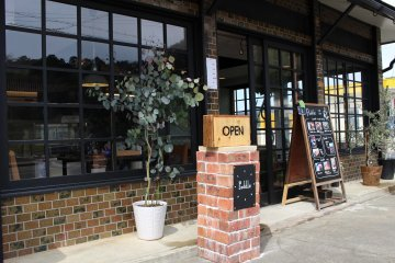 Entrance to Paddle cafe-restaurant in Ayabe