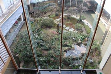 Japanese garden inside Kaike Tsuruya ryokan hotel
