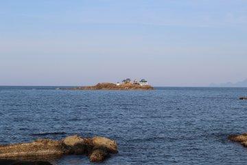 Nochigashima island seen from Kinosaki Marine World