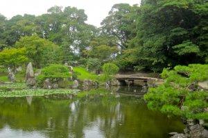 Le jardin Genkyu-en de Hikone