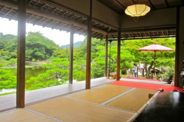 Looking out from the Hoshodai Tea House