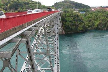 Saikai Bridge and waters of Hario Straits