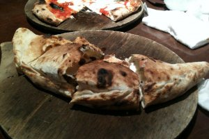 Meat and cheese calzone from Diavolo e bambina in Nagoya