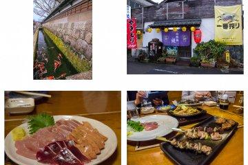 일본의 전통 이자카야에서 잔치
