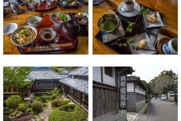 The beautiful lunch and manicured grounds of Hattori Tei restuarant