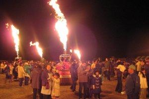Tochigi Hot Air Balloon International Championship Festival, Kinugawa riverside, November