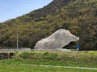 #81 Mt. Dan Archaeological Site by Hiroko Kubo will catch your eye as you pass by on the road as it features some very large odd wireframe structures