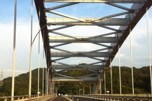 Crossing the Omishima Bridge
