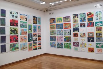 A public gallery had an exhibition of childrens' art