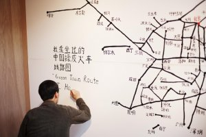 The routes Qian took for the project