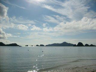 La vue d'une plage