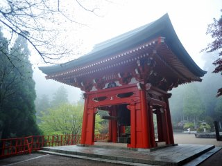 The Sho-ro pavilion houses the giant bell of peace