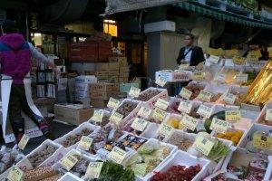 Sayur-sayuran di pasar luar