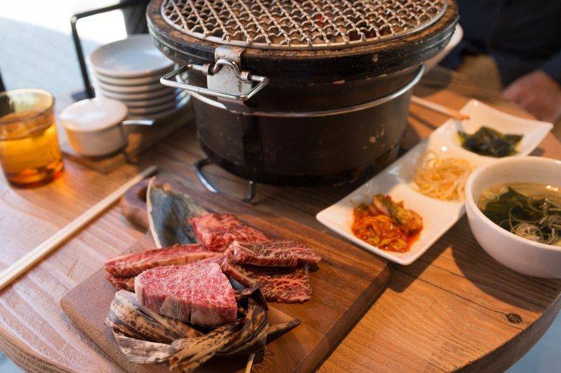 Japanese beef cut set