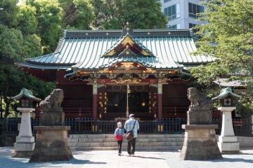 Konnõ Hachimangū Shrine in Shibuya