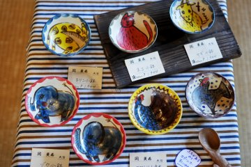 Cute and colourful pottery for the children's day exhibition