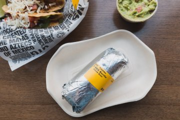 Burrito ready to be opened!