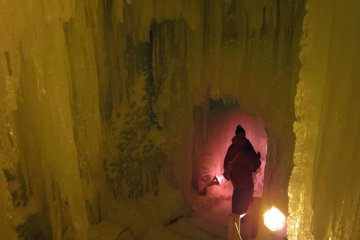 Inside the Ice Castle Maze
