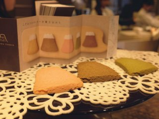 富士山曲奇餅展示