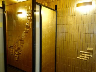Golden screens and gold leaf-coated bricks and gold, gold, gold.