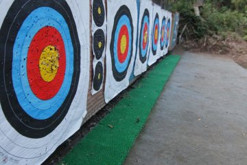 Practice Range: Shoot from the 10 or 15 meter mark