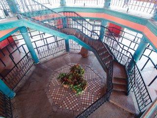Details inside the Highdive Pavillion