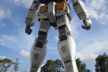 <p>Back of Gundam</p>