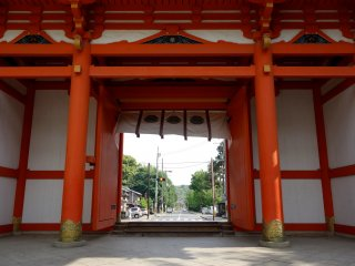 Shrine grounds demarcate a break from the hubbub of everyday life