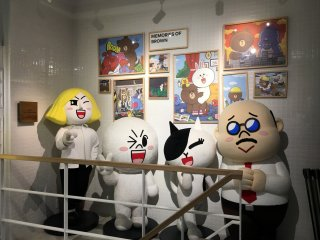 Life-size Line characters