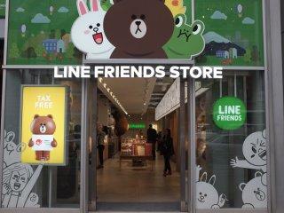 Lối vào cửa hàng Line Friends