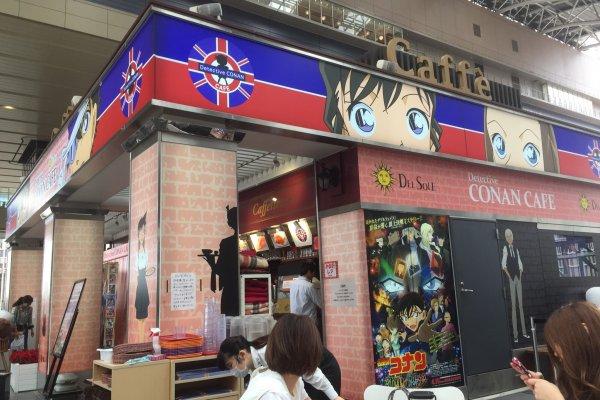 Conan Cafe di Stasiun Osaka