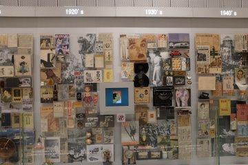 從1800年到2016年日本廣告史上的各種收藏,產品以及海報。