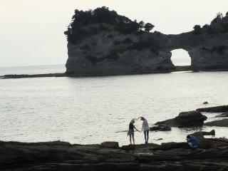 엔게쯔 섬을 즐기다