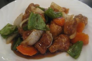 Sweet and Sour Pork is crispy and delicious