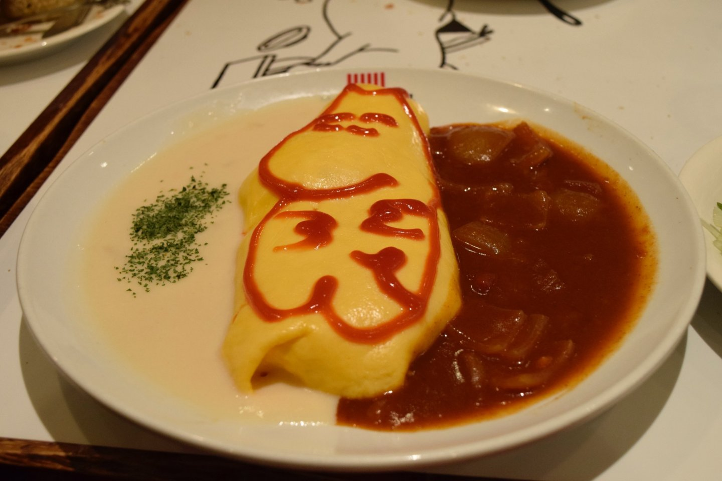 Tasty omurice at the Moomin cafe