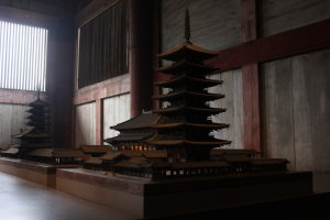 A miniature model of the original Todaiji
