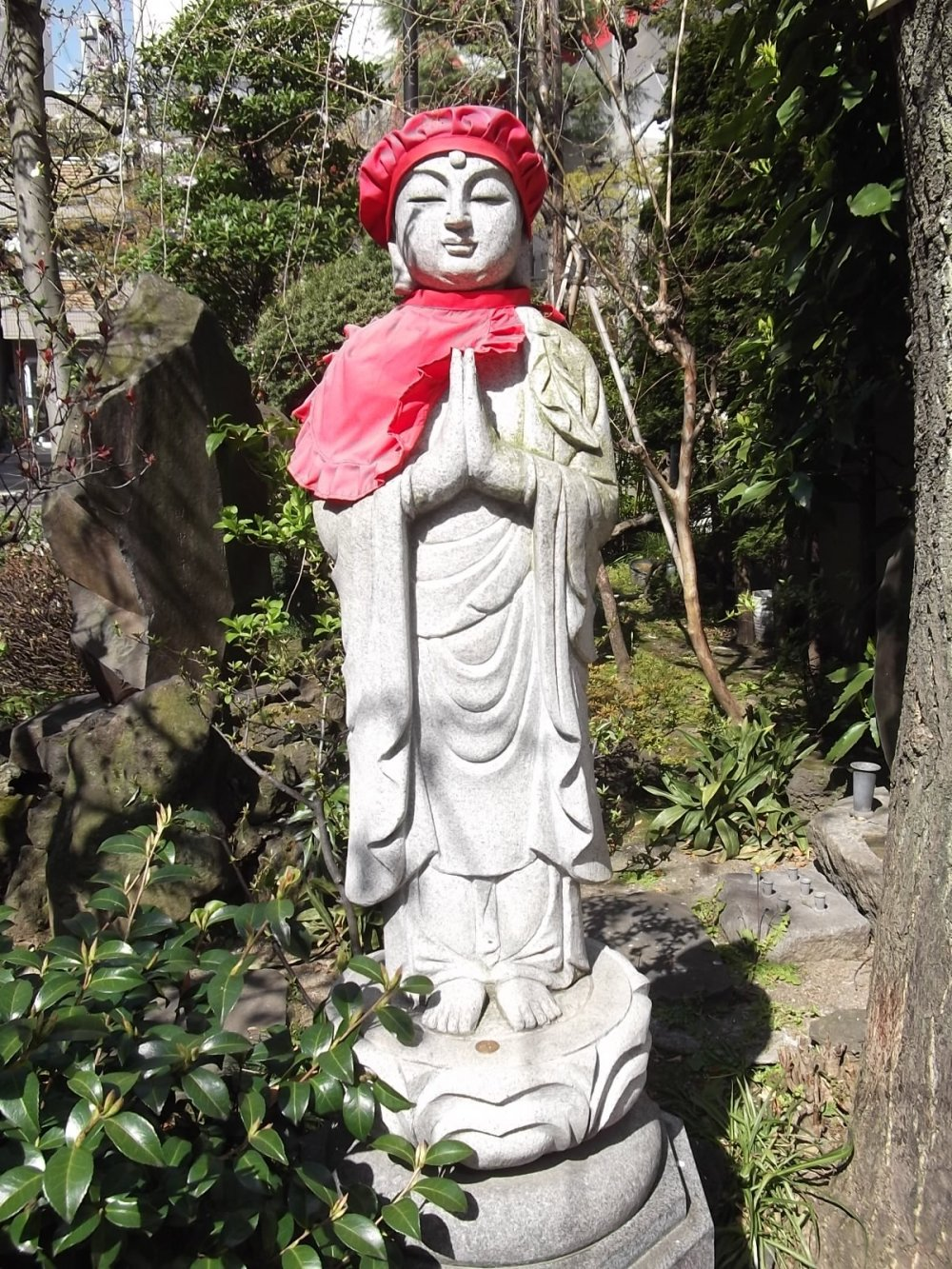 One of the serene statues