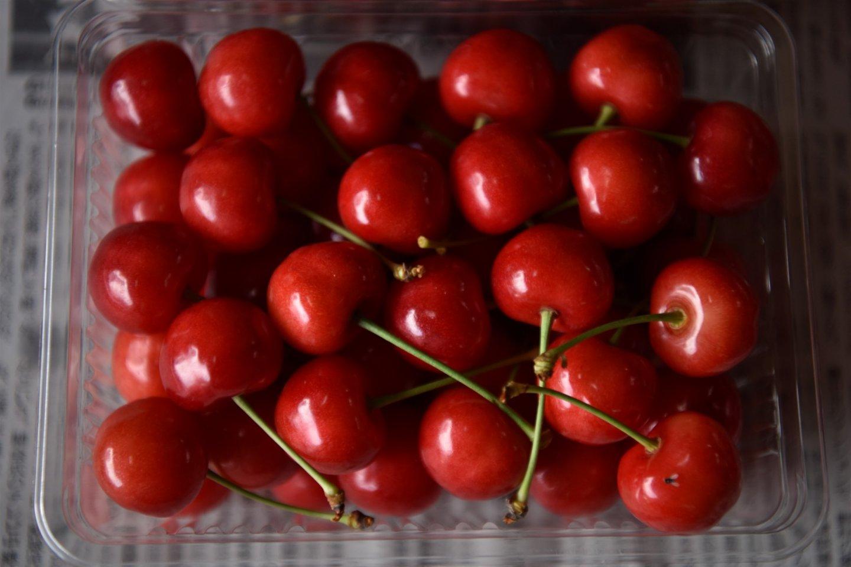 Yamagata\'s famous bright red \'sakuranbo\'