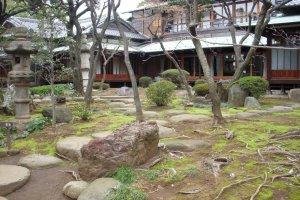 Kyu Asakura's garden with house in the distance