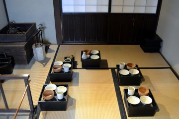 Inside of Ashigaru's house. Ashigaru was a Japanese foot soldier in the feudal era.