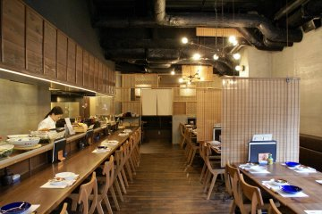 The warm interior of Kyo