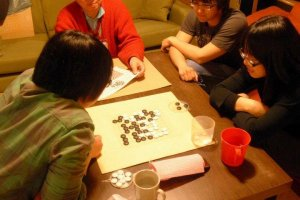 Japanese Chess Class in lounge room